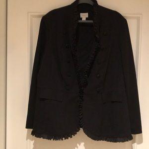 CHICO'S Black Statement Jacket Size 4 (Plus Sz 22)